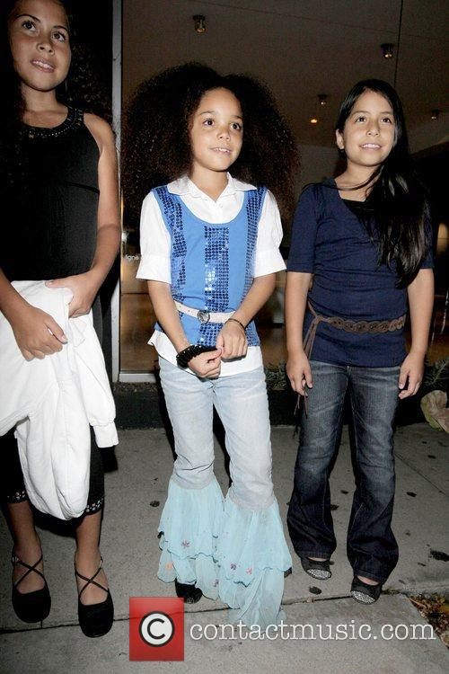 Child actress Jadagrace outside Madeo restaurant in West...