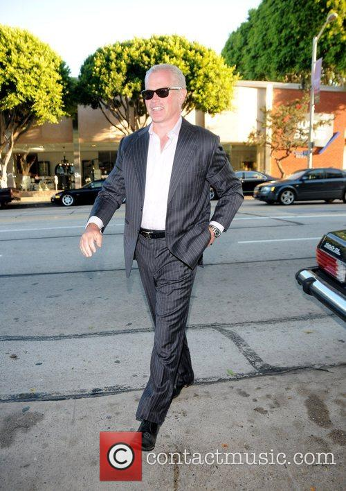 Neal Mcdonough arriving at Madeo restaurant Los Angeles,...