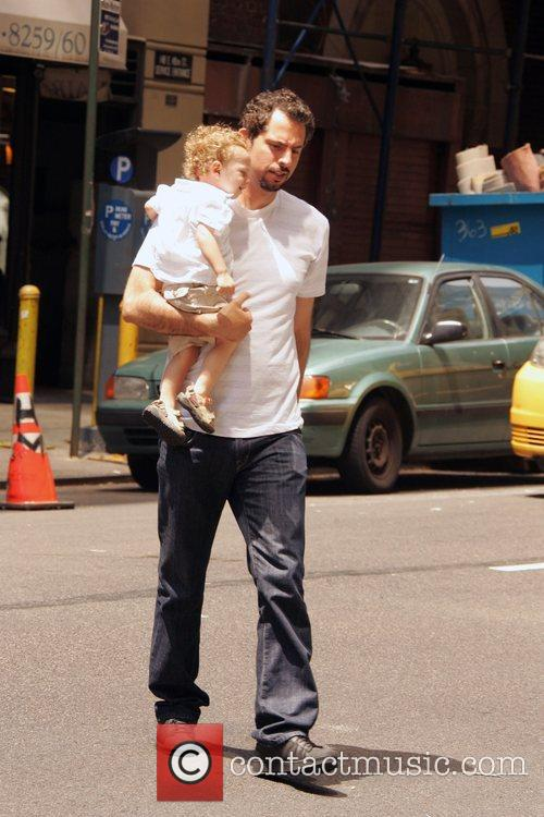 Guy Oseary and His Child 2