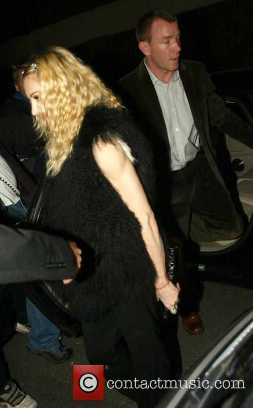 Madonna and Guy Ritchie arriving at The Punchbowl...