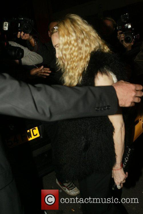 Madonna arriving at The Punchbowl to celebrate Guy...