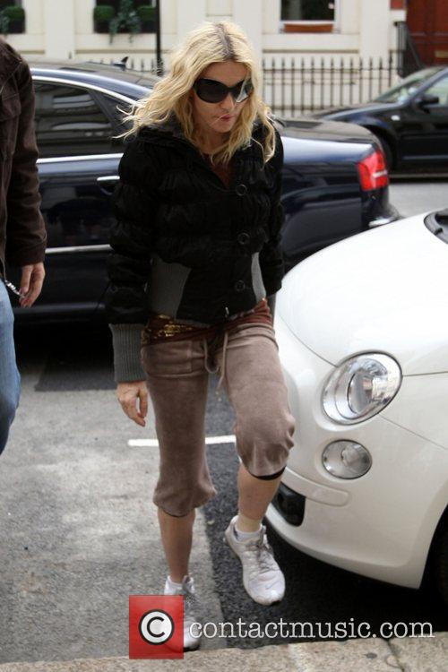 Madonna arriving at her gym in west London....