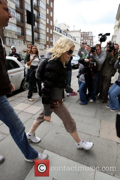 Madonna arriving at her gym in west London...