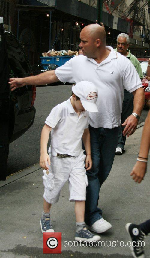 Rocco Ritchie entering the Kabbalah centre New York...
