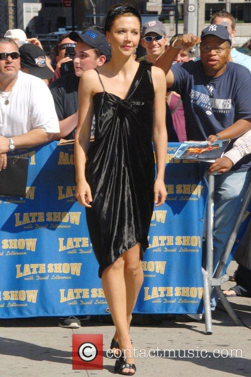Maggie Gyllenhaal and David Letterman 2