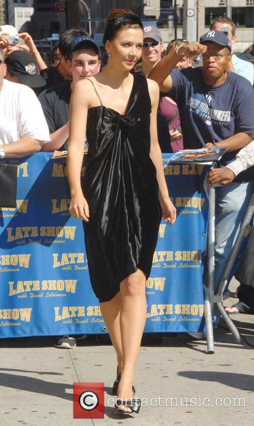 Maggie Gyllenhaal and David Letterman 8