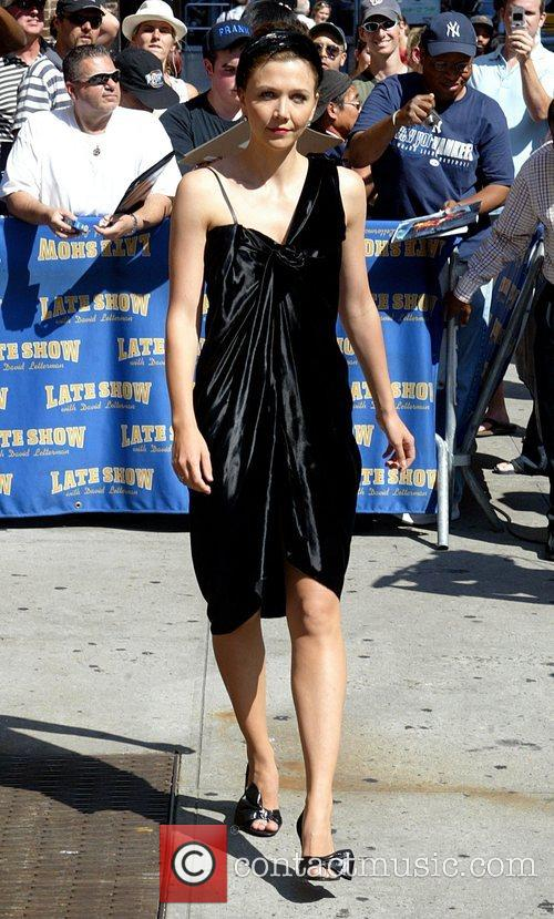 Maggie Gyllenhaal and David Letterman 16