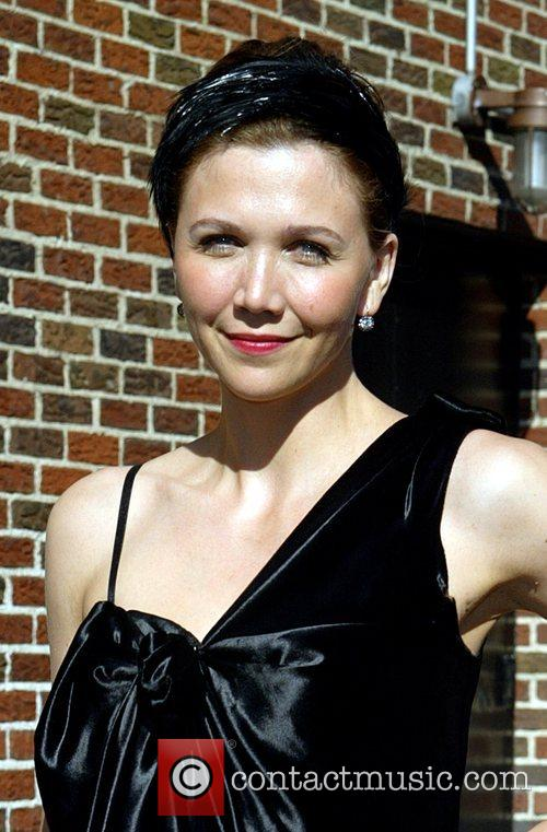 Maggie Gyllenhaal and David Letterman 14