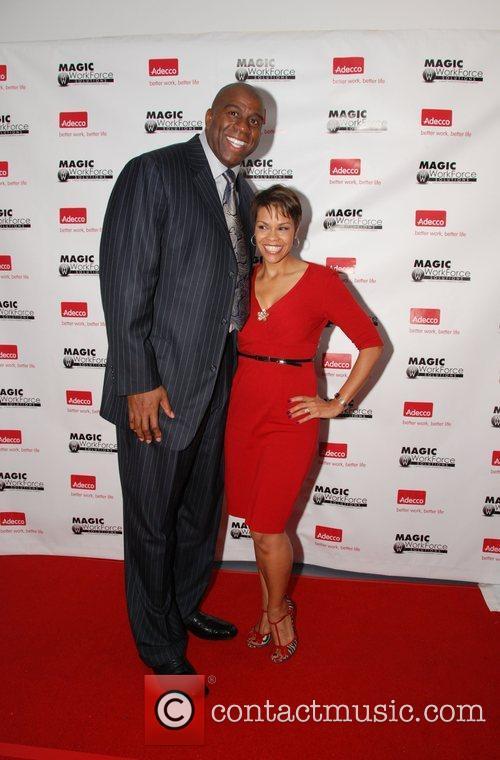 Earvin Magic Johnson and April Woodard  Magic...