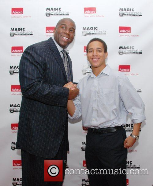 Earvin Magic Johnson and Kevin Lopez Magic Workforce...