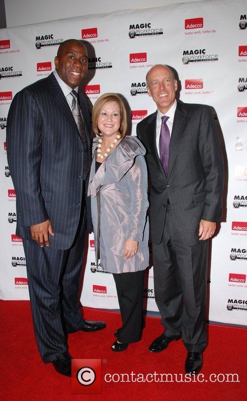 Earvin Magic Johnson, Joyce Russell and Tig Gilliam...