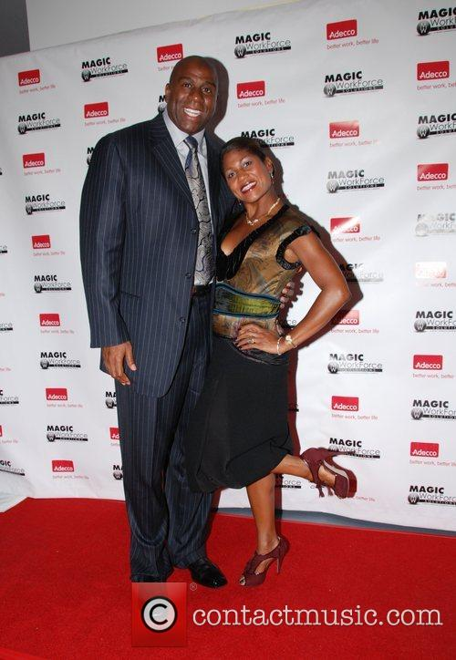 Earvin Magic Johnson and Jocelyn Taylor (Publisher of...
