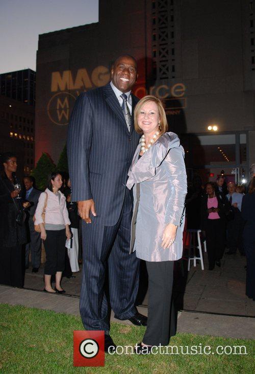 Earvin Magic Johnson and Joyce Russell Magic Workforce...