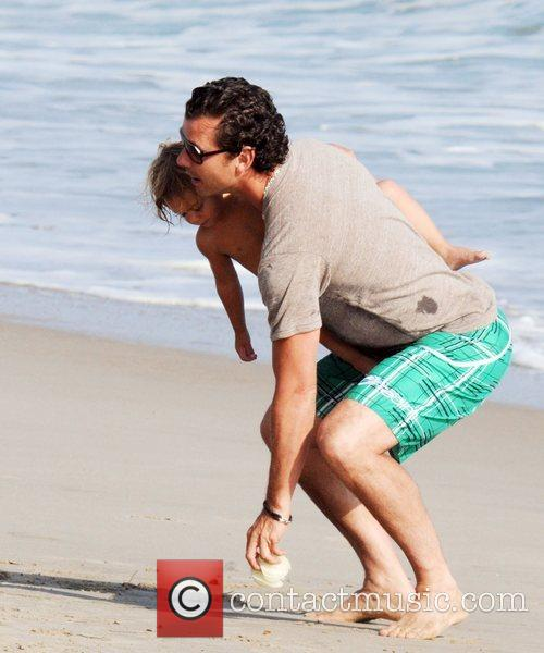 Gavin Rossdale and Son Kingston Rossdale On Malibu Beach 1