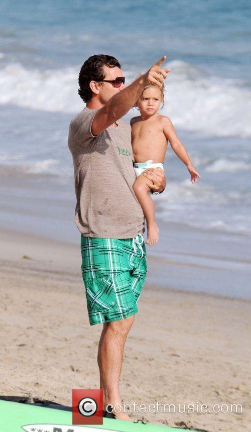 Gavin Rossdale and son Kingston Rossdale on Malibu beach 24