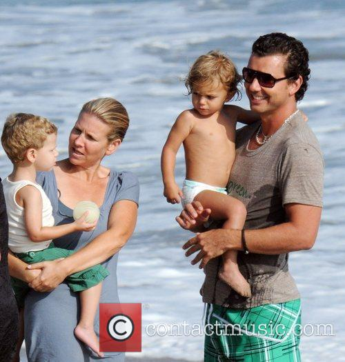 Gavin Rossdale and son Kingston Rossdale on Malibu beach 25