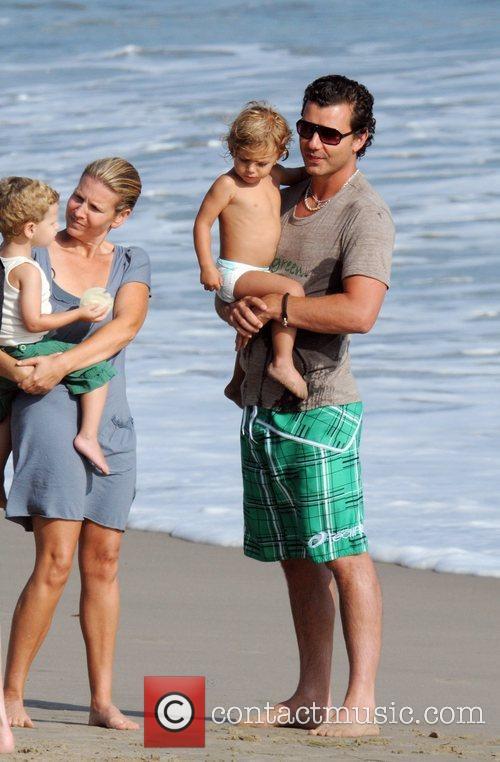 Gavin Rossdale and son Kingston Rossdale on Malibu beach 11