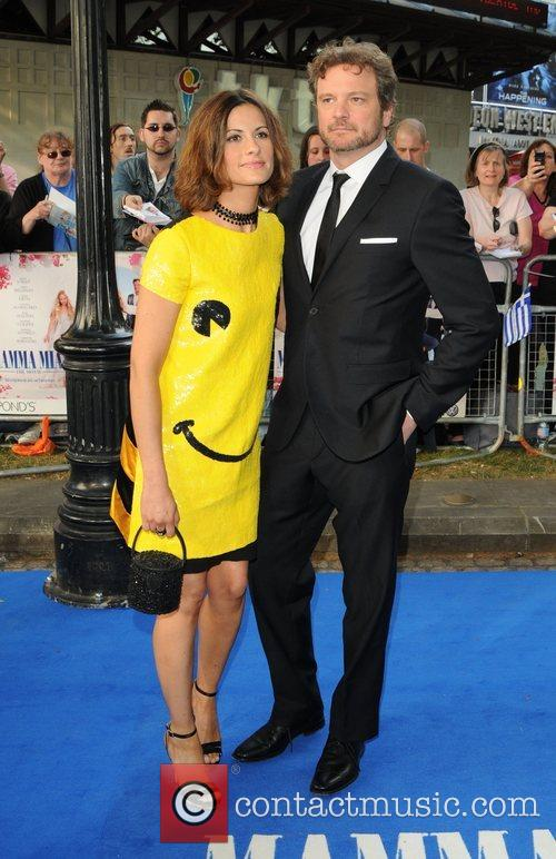 Colin Firth and Guest World Premiere of Mamma...