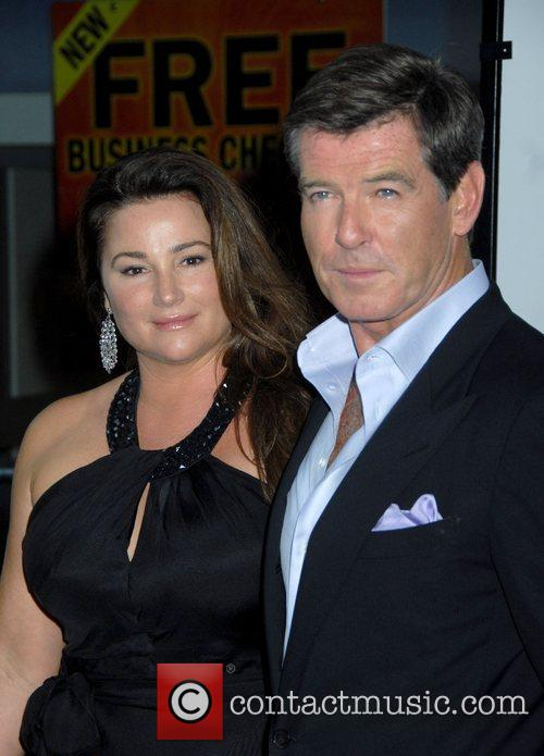 Pierce Brosnan and his wife Keely Shaye Smith...