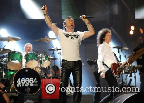 Paul Rodgers, Brian May and Nelson Mandela 2