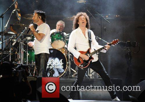 Paul Rodgers, Brian May and Nelson Mandela 8