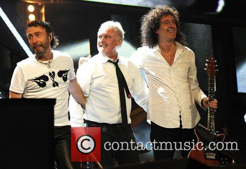 Paul Rodgers, Brian May and Nelson Mandela 1