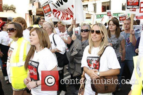 Brooke Kinsella marching to Hyde Park to demonstrate...