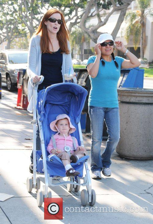 Marcia Cross having a stroll with her daughter...