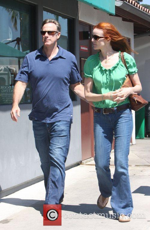 Marcia Cross and husband Tom Mahoney shopping at...