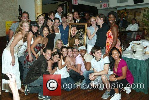 Mario Lopez and the cast of A Chorus...