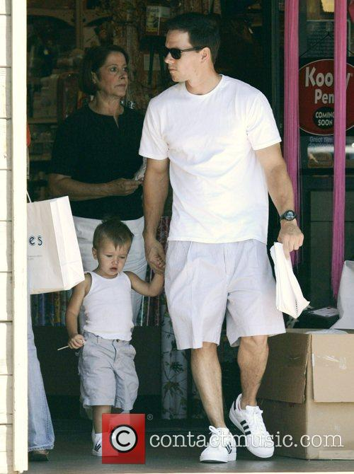 Mark Wahlberg and son Mike Wahlberg out and...
