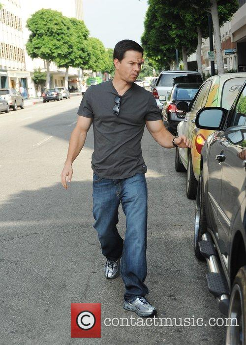 Mark Wahlberg on Robertson Boulevard Los Angels, California