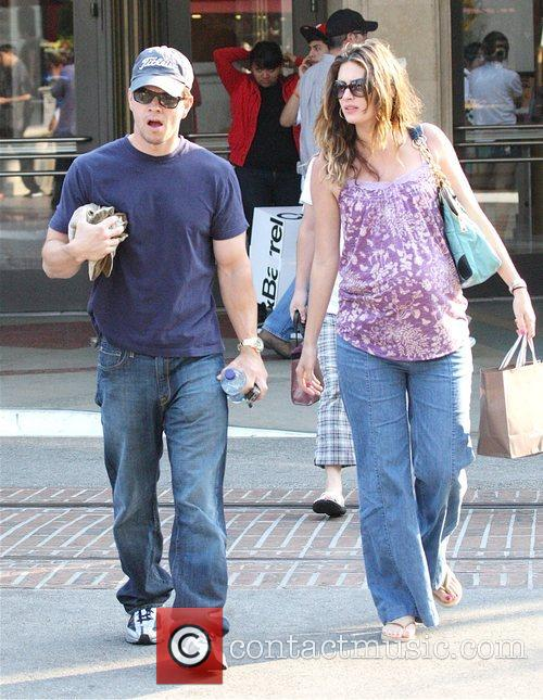 Mark Wahlberg leaving the Grove after a romantic...