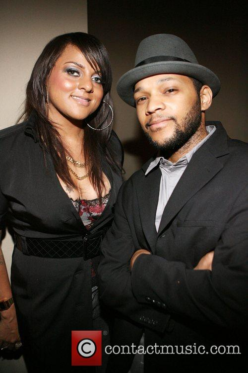 Marsha Ambrosius and Forrest Renaissance Backstage at The...