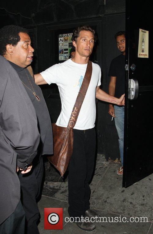 Matthew McConaughey leaving the Viper Room in West...