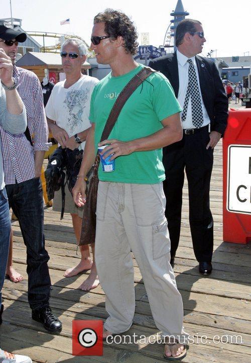 Enjoys a stroll on Santa Monica pier with...