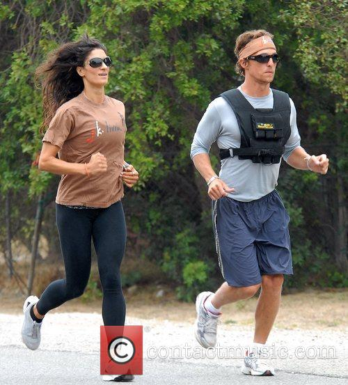 Wearing a V-Max weight vest whilst jogging with...