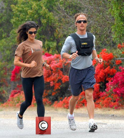 Matthew McConaughey wearing a V-Max weight vest whilst...