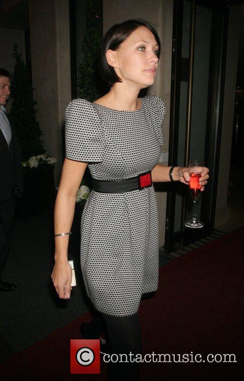 Emma Griffiths leaving the Mayfair Hotel London, England