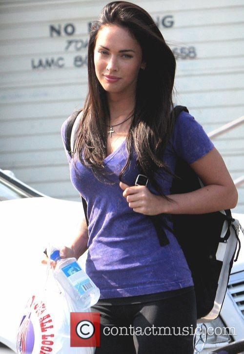 Megan Fox shopping at Fred Segal in West...