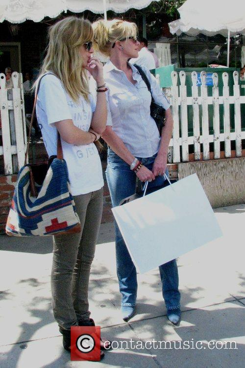 Melanie Griffith and Daughter Dakota Mayi At The Ivy After Shopping At Chanel Boutique On Robertson Boulevard 5