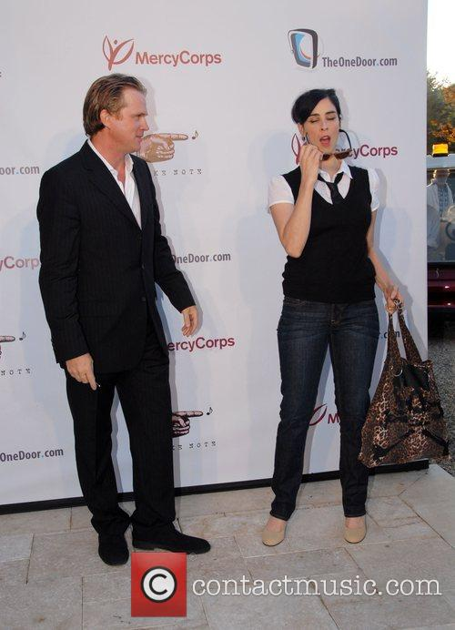Cary Elwes and Sarah Silverman 6