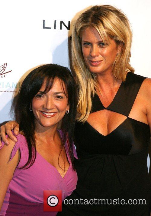 Nina Vaca and Rachel Hunter Lingerie Miami Cocktail...