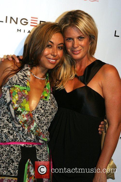 Renata Black and Rachel Hunter Lingerie Miami Cocktail...