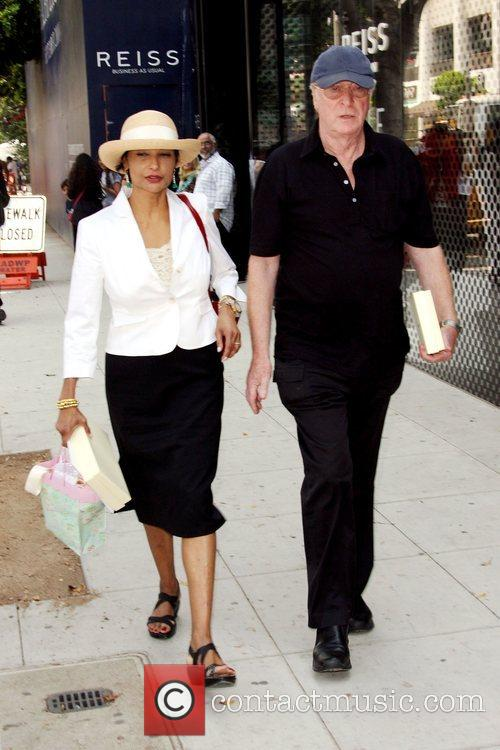 Michael Caine and wife Shakira Caine leaving the...