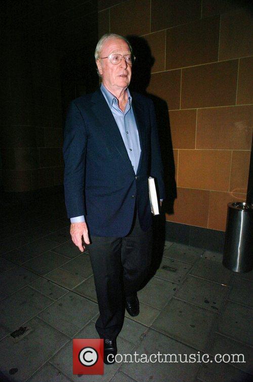Michael Caine  leaving Cipraini Restaurant in Mayfair...