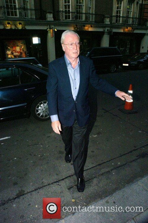Michael Caine arriving at Cipraini Restaurant in Mayfair...