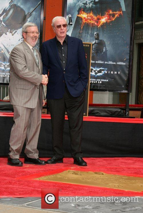 Michael Caine Handprint and Footprint Ceremony at Grauman's...