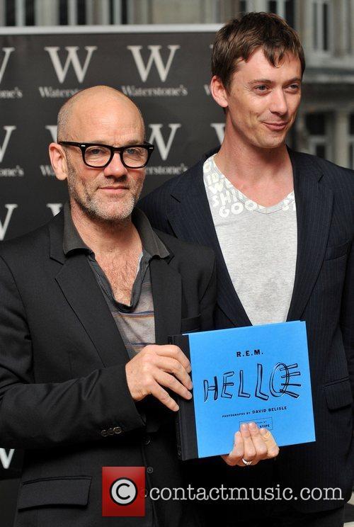 Michael Stipe of R.E.M and David Belisle...