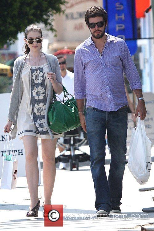Gossip Girl star Michelle Trachtenberg with her boyfriend...